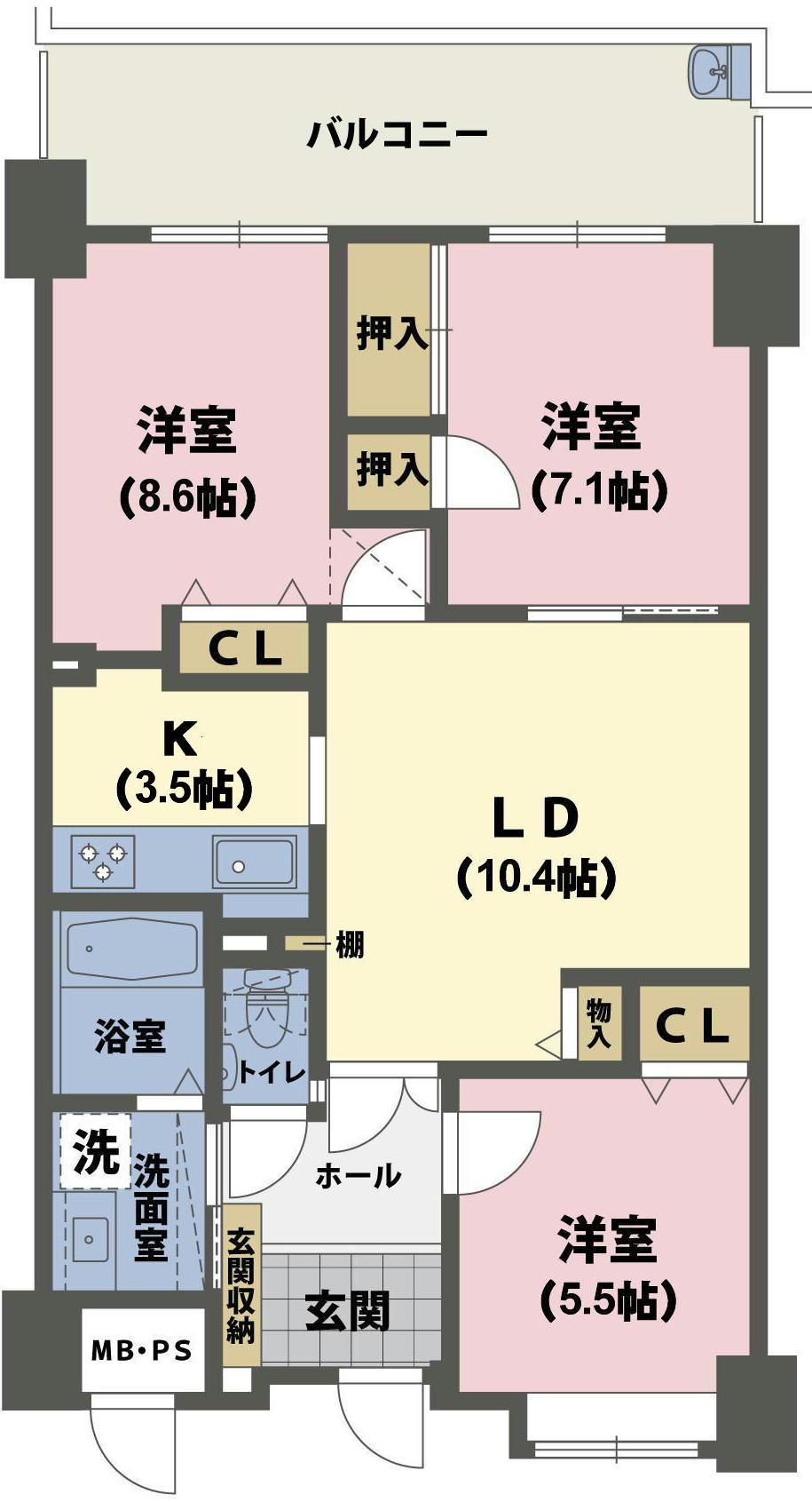 間取図(帖数あり) (2)